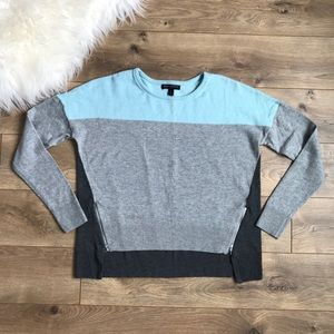 BANANA REPUBLIC Hi Lo Colorblock Zipper Sweater S